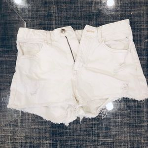H&M high waist denim cut offs size 8